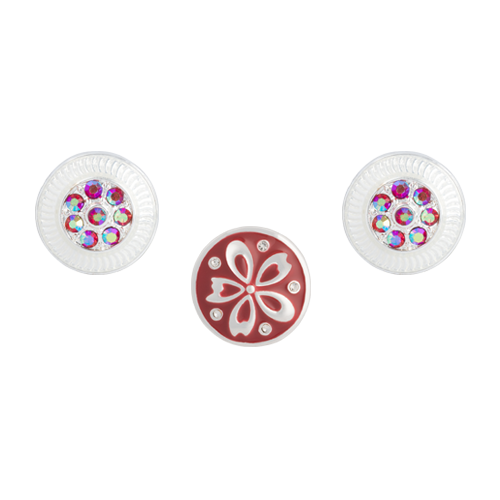 Red Clematis Dot Set